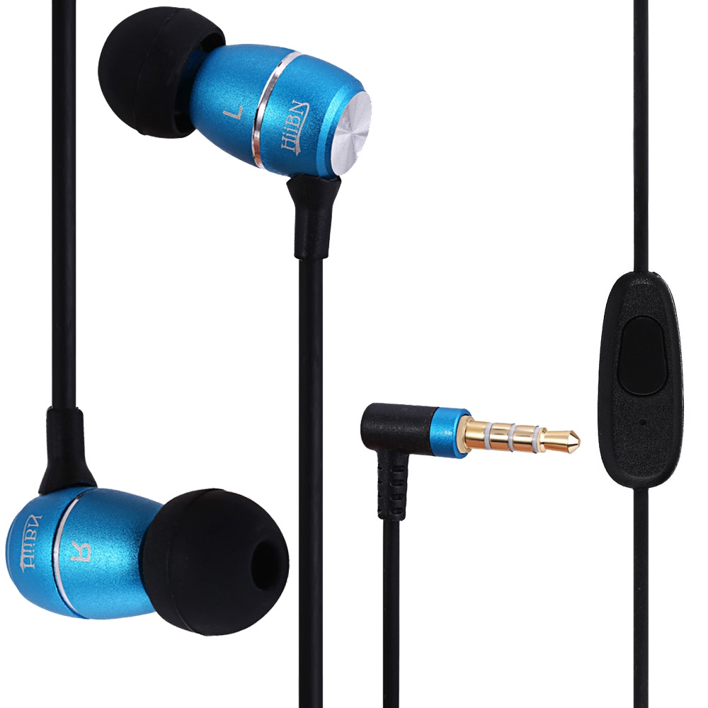 HI-100 SUPER BASS STEREO HEADSETS 3.5MM PLUG EARPHONES WITH MIC