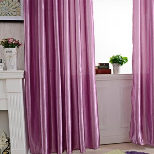 100 X 250CM PURE COLOR GROMMET RING TOP BLACKOUT WINDOW CURTAIN (PURPLE)