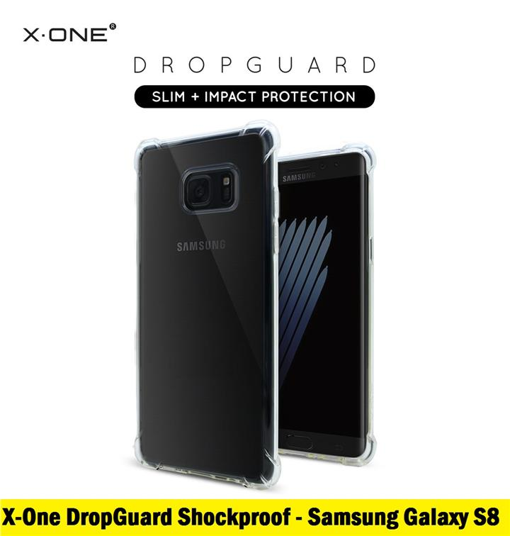 100% X-One DropGuard Shockproof Case for Samsung Galaxy S8 (Clear)
