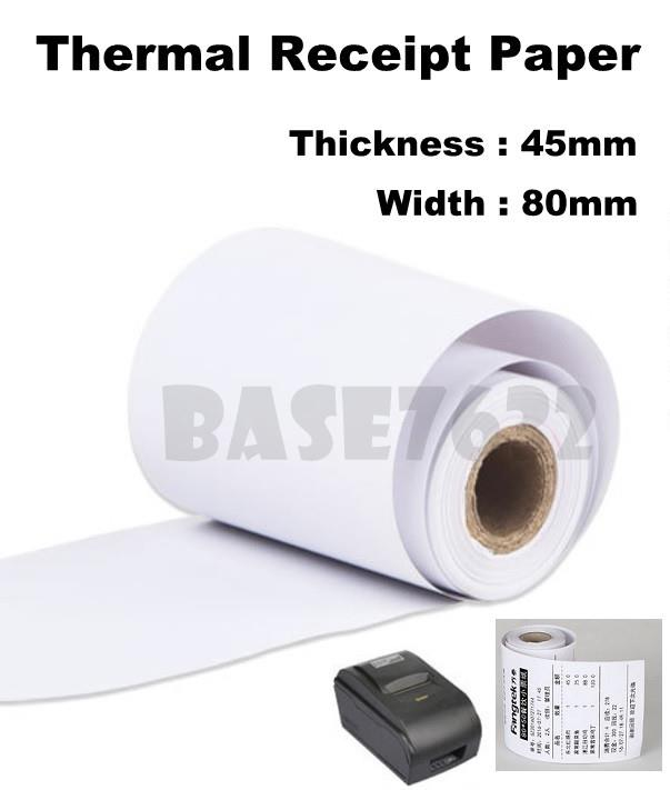 100 x Rolls 80mm  8cm Thermal Receipt White Paper Roll Rolls 80*45mm