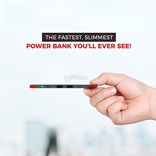10000Mah Ultra Slim Power Bank With Micro & Lightning Cable