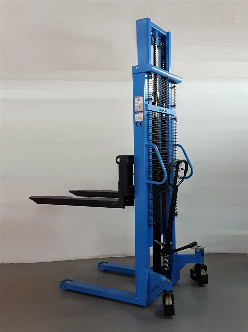 1000kgs Double Mast Manual Hydraulic Hand Stacker 3000mm ID30358