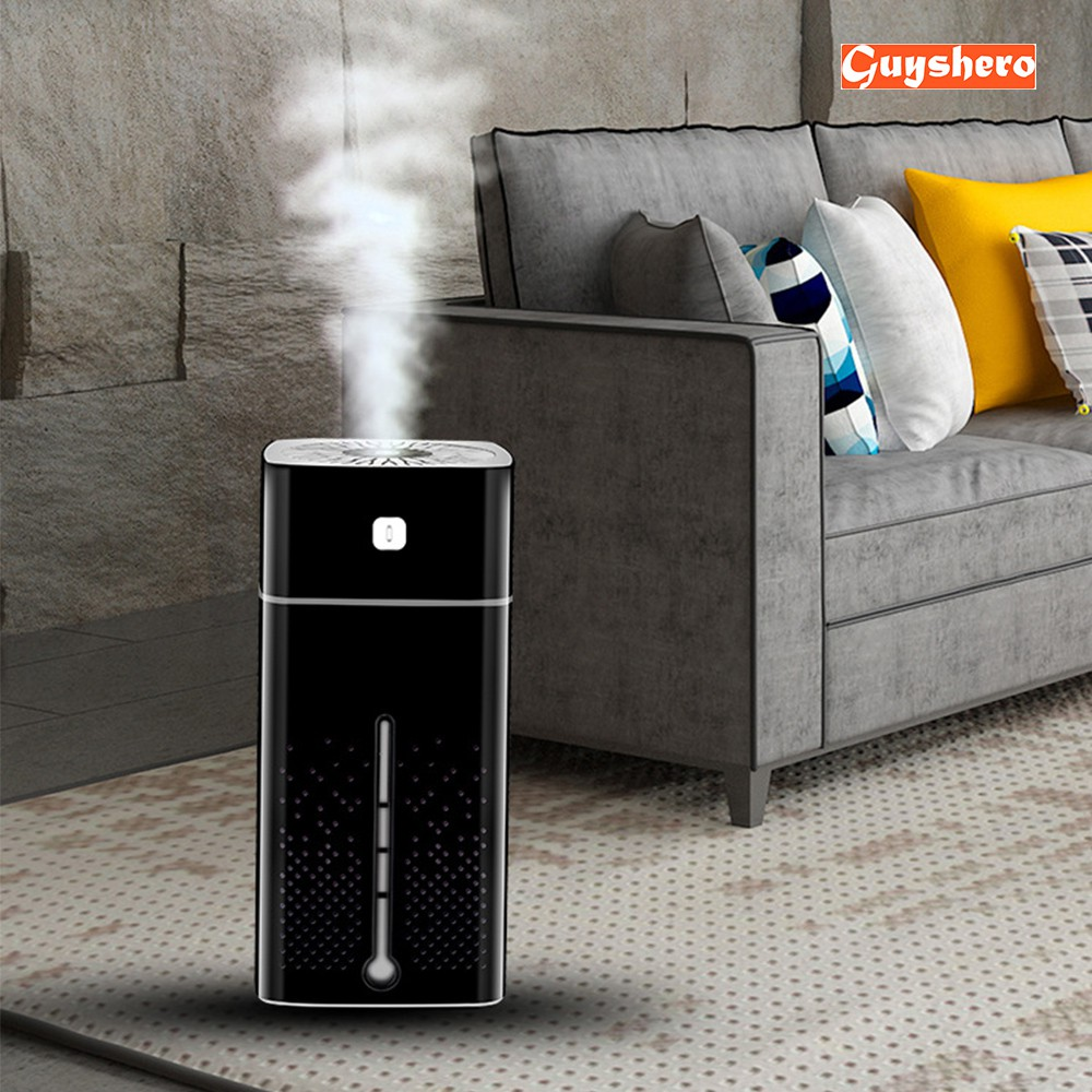 1000ml Humidifier Air Purifiers ULTRAsonic Atomizer Arom Dif - [BLACK]