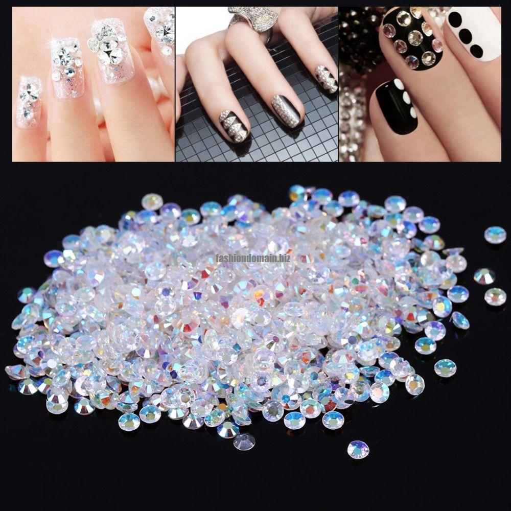 1000pcslot 4mm Crystal Nail Art Bead (end 8/23/2018 7:43 PM)