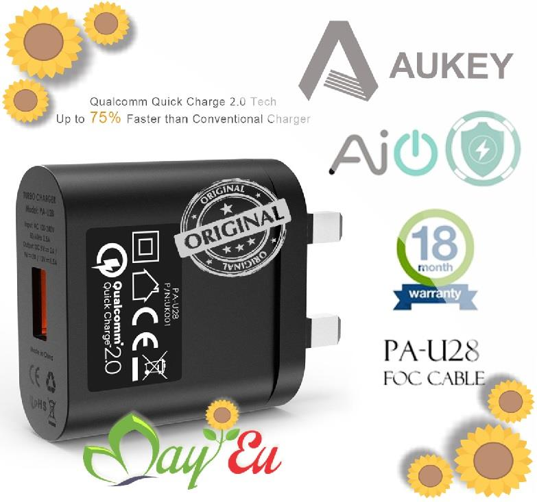 ❁ AUKEY 18W Quick Charge 2.0 AUKEY Wall Charger (1 Port)