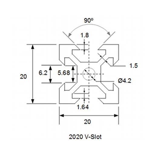 1005mm aluminium profile v 1  2020 3 15 pm