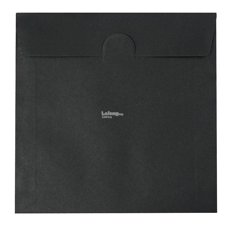 100g 125X125mm BLACK COLOUR CD Envelope (100pcs)