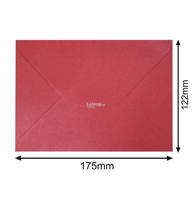 100g 175X122mm Pearlescent Metallic MAROON Gummed Envelope (100pcs)