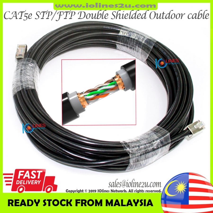 100m Outdoor Cat5e Cat 5e STP FTP LAN Network cable Ugreen RJ45 Full Copper Do