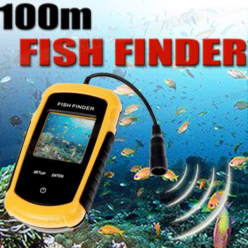 100m Portable Fish Finder Sonar Depth Sounder Sensor Alarm