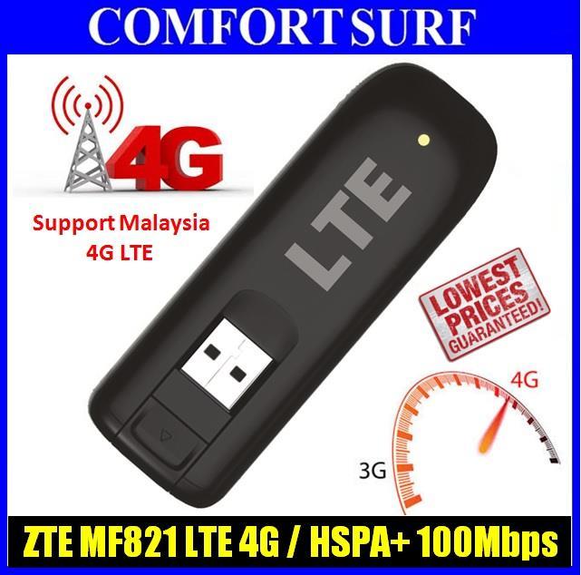 BEST 100Mbps LTE 4G ZTE MF821 USB Modem 313U 753S E3372 E8278 E3276
