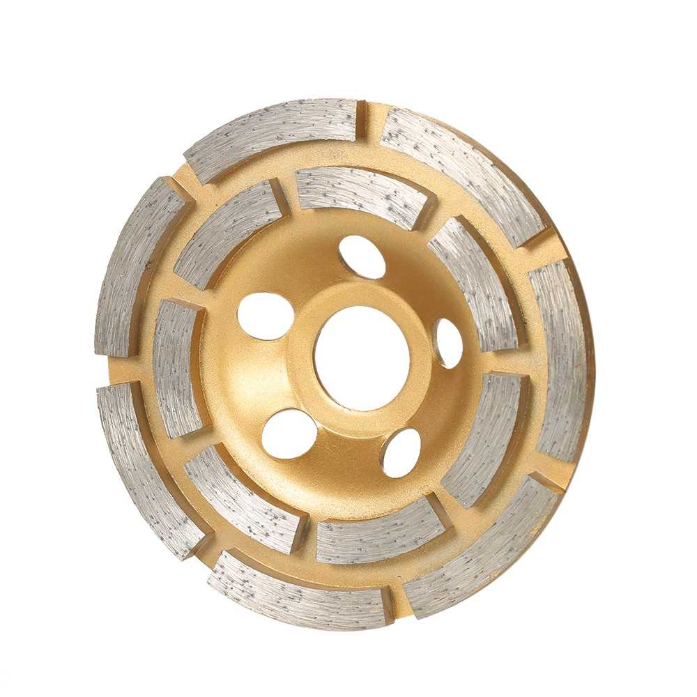 "100mm 4 "" Diamond 2 Row Segment Grinding Wheel Disc Bowl Shape Grinder Cu"