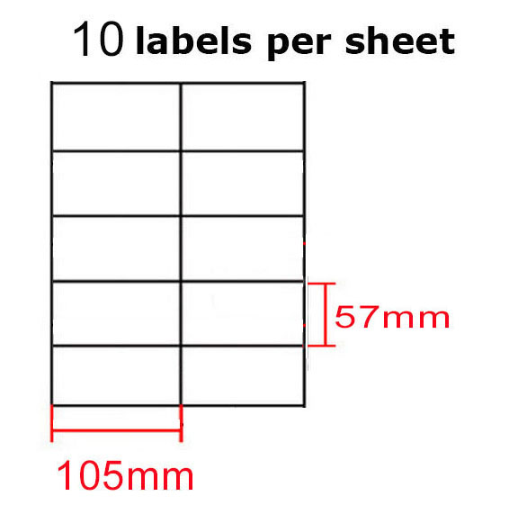 100pc A4 Sticker Paper White Glossy Self-adhesive Sticky Label
