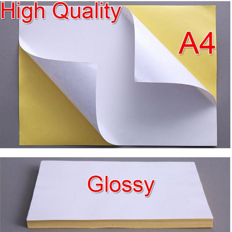 100pc A4 Sticker Paper White Glossy/Matt Label Kertas Lekat Office
