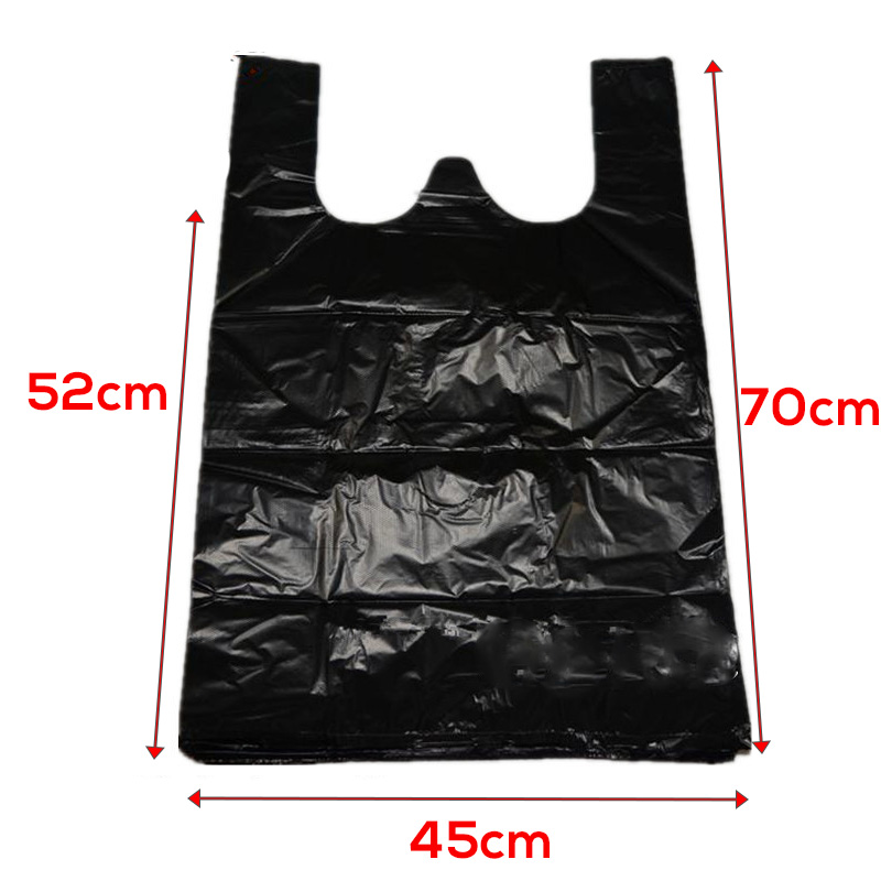 100pc Plastic T-Shirt Shopping Supermarket Bag Handle Packaging Flyer