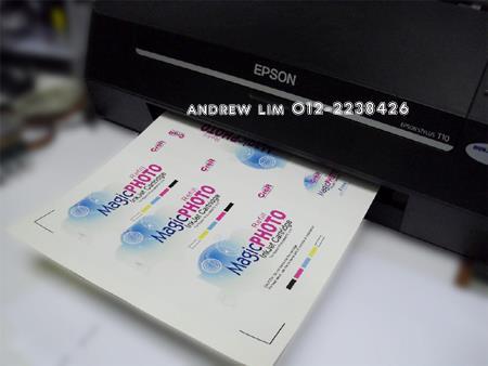 100pcs a4 sticker paper glossy mirrorkote self adhesive print