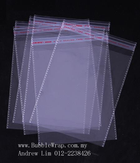 100pcs OPP Bag 30x40cm Self Adhesive Transparent Plastic Bag