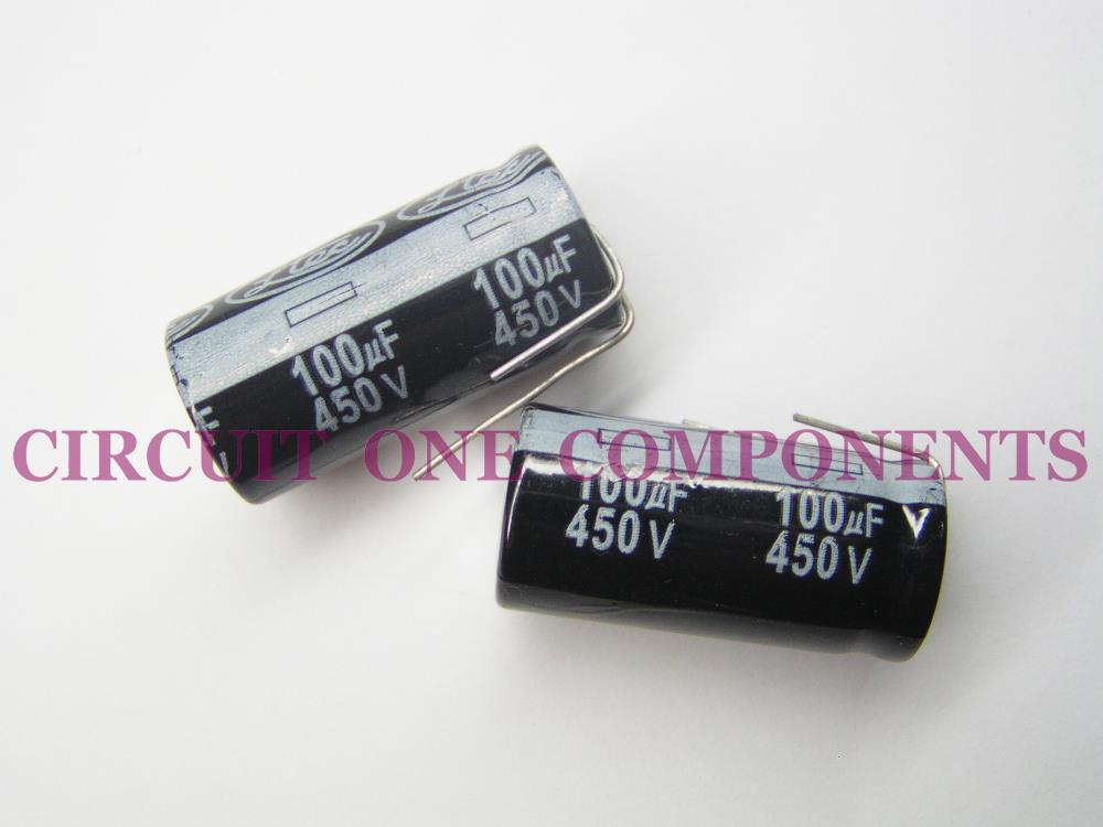 100uF 450v Electrolytic Capacitor - Each