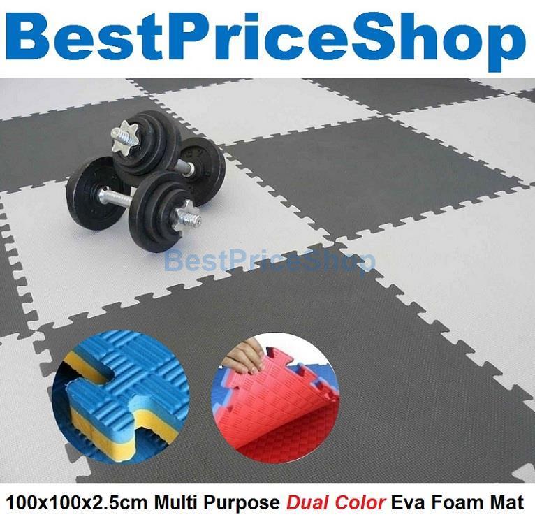 100x100x2.5cm Non Toxin Dual Color Eva Foam Mat Judo Yoga Gym Exercise
