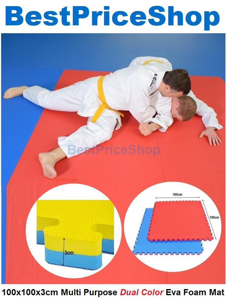 100x100x3cm Non Toxin Dual Color Eva Foam Mat Judo Yoga Gym Exercise
