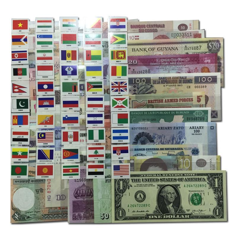 103 Different 50 World Paper Money Collection UNC Genuine Banknotes
