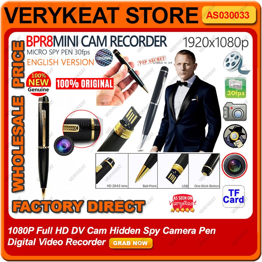 1080P Full HD DV Cam Hidden Spy Camera Pen Digital Video Recorder