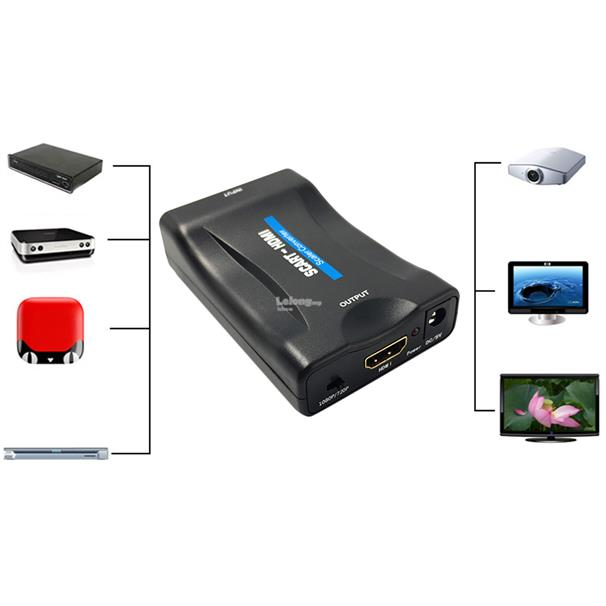 1080P SCART To HDMI Video Audio Converter Adapter for HD TV DVD for Sk