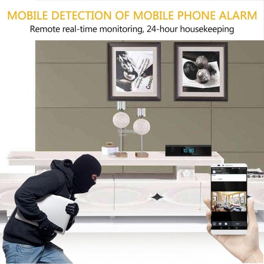 1080P Wireless WIFI HD Hidden Spy Camera Clock with Night Vision