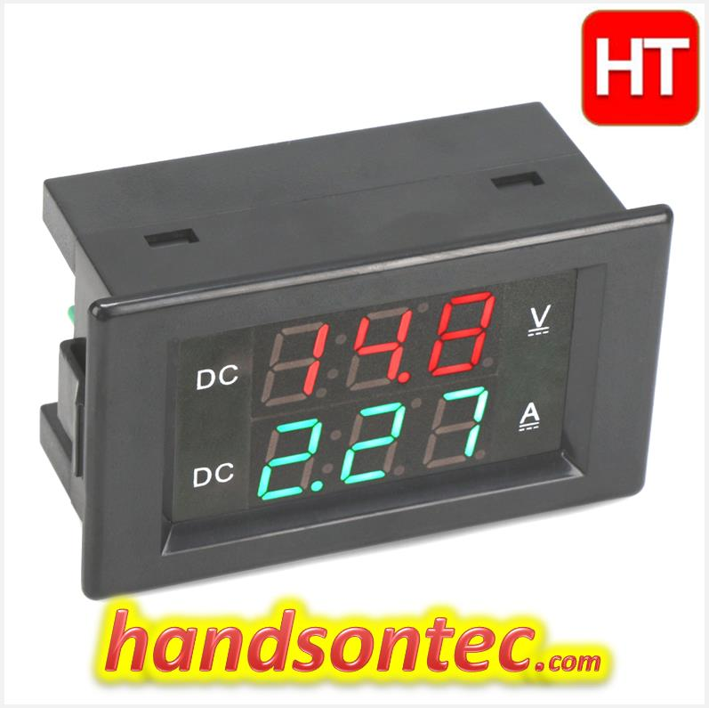 10A~100V Dual Display Digital DC Volt-Amp Meter Module