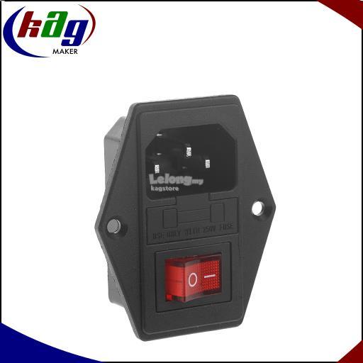 10A 250V 3 Pin IEC320 C14 AC Inlet Male Plug Power Socket Iec C Wiring Diagram on