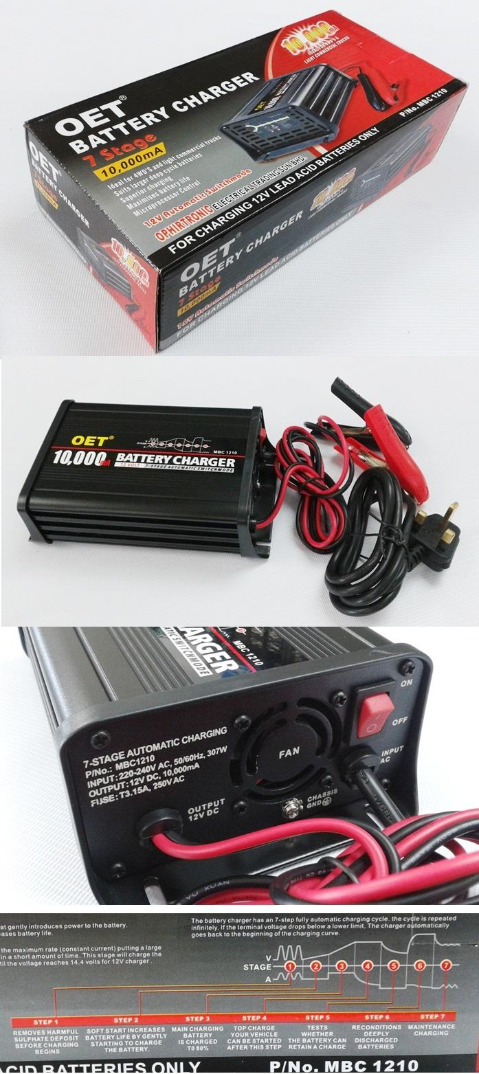 10A  7 STAGE  AUTOMATIC BATTERY CHARGER