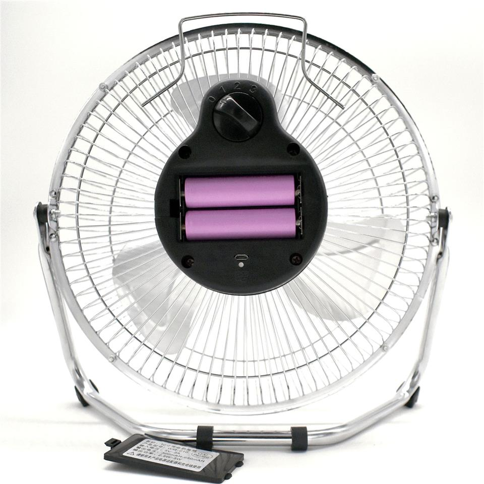 10inch Fan Rechargeable Battery Cooler USB 18650 Portable