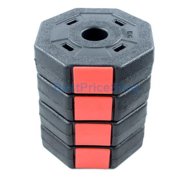 10kg Adjustable Octagon Hexagon Dumbbell Set Rubber Weight Plate