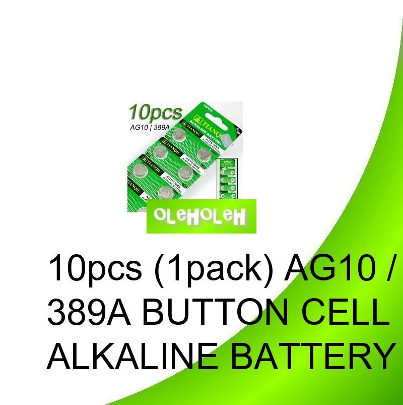 *10pcs (1pack) AG10 / 389A Button cell Alkaline Battery