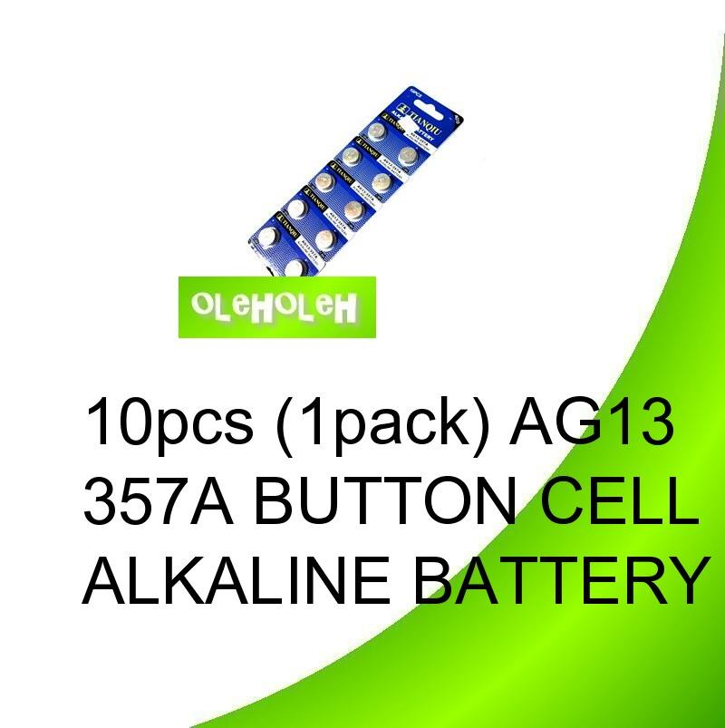*10pcs (1pack) AG13 357A Button cell Alkaline Battery