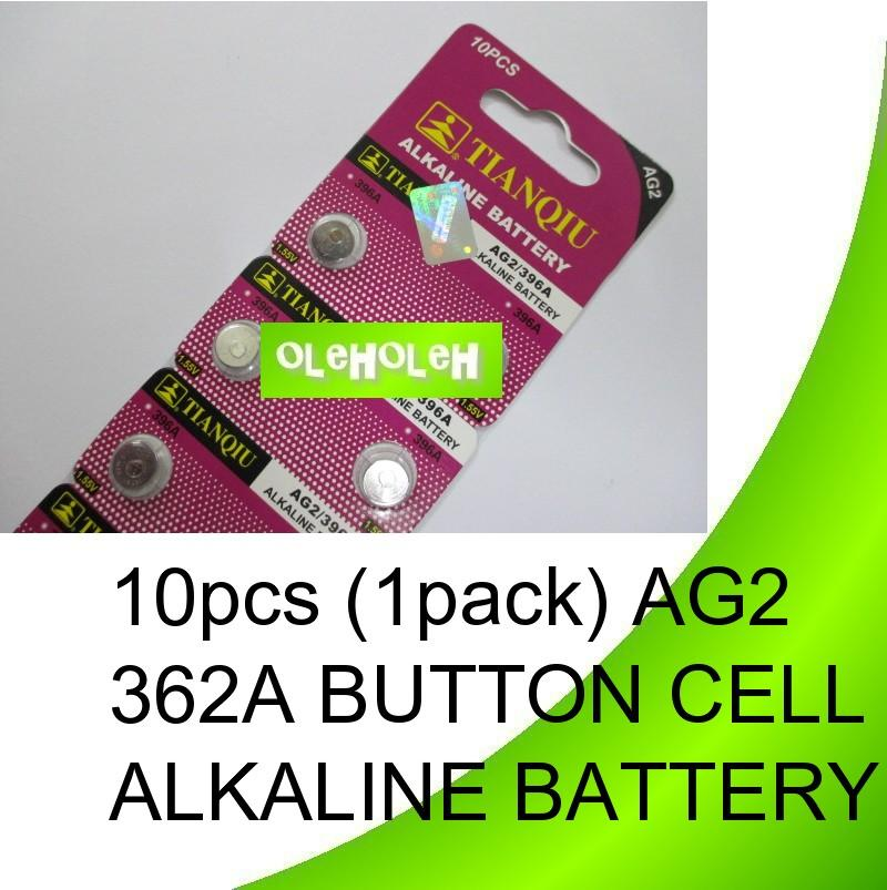 *10pcs (1pack) AG2 362A Button cell Alkaline Battery