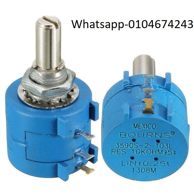 10PCS 3590S Rotary Wirewound Precision Potentiometer 100R-100K Ohm