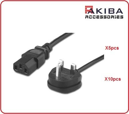 10pcs AC Power Cord (Malaysia 3-Pin to C13)