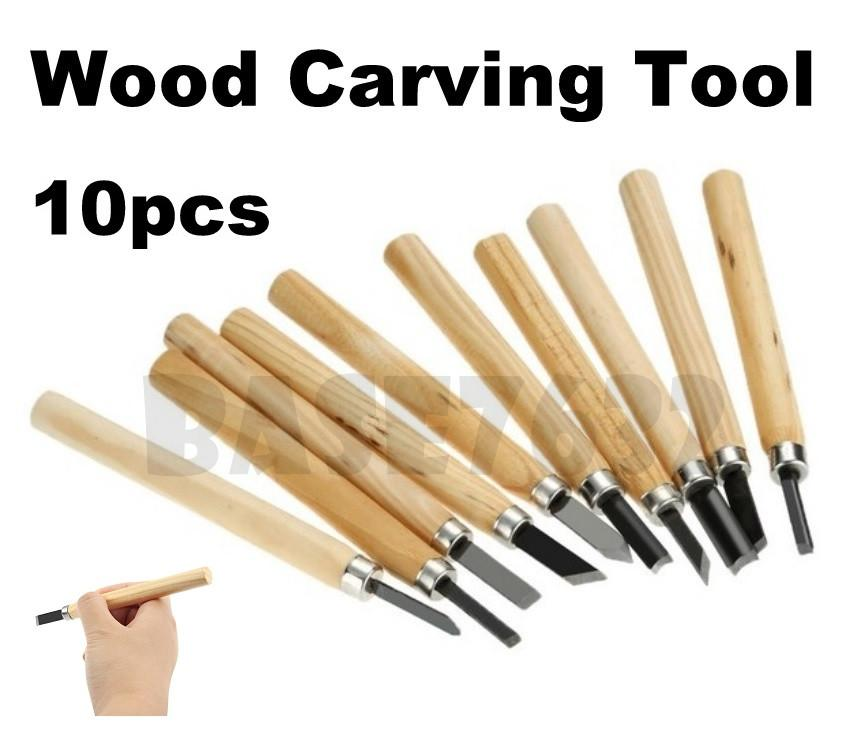 10pcs Assorted Mini Chisels Wood Carving Woodcarving Tools Kit Set
