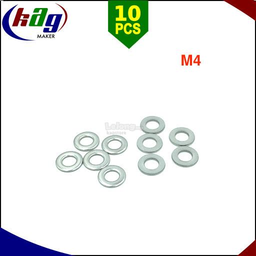 10pcs M4 Flat Washer Stainless Steel
