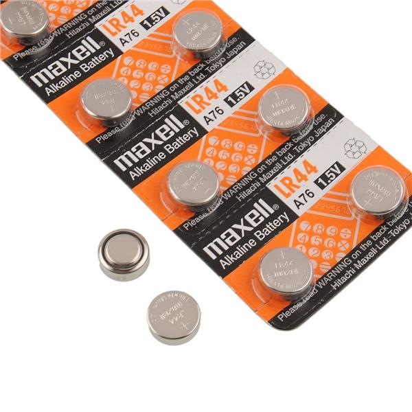 10pcs Maxell LR44 A76 AG13 L1154 G13 Micro Alkaline Coin Cell Battery