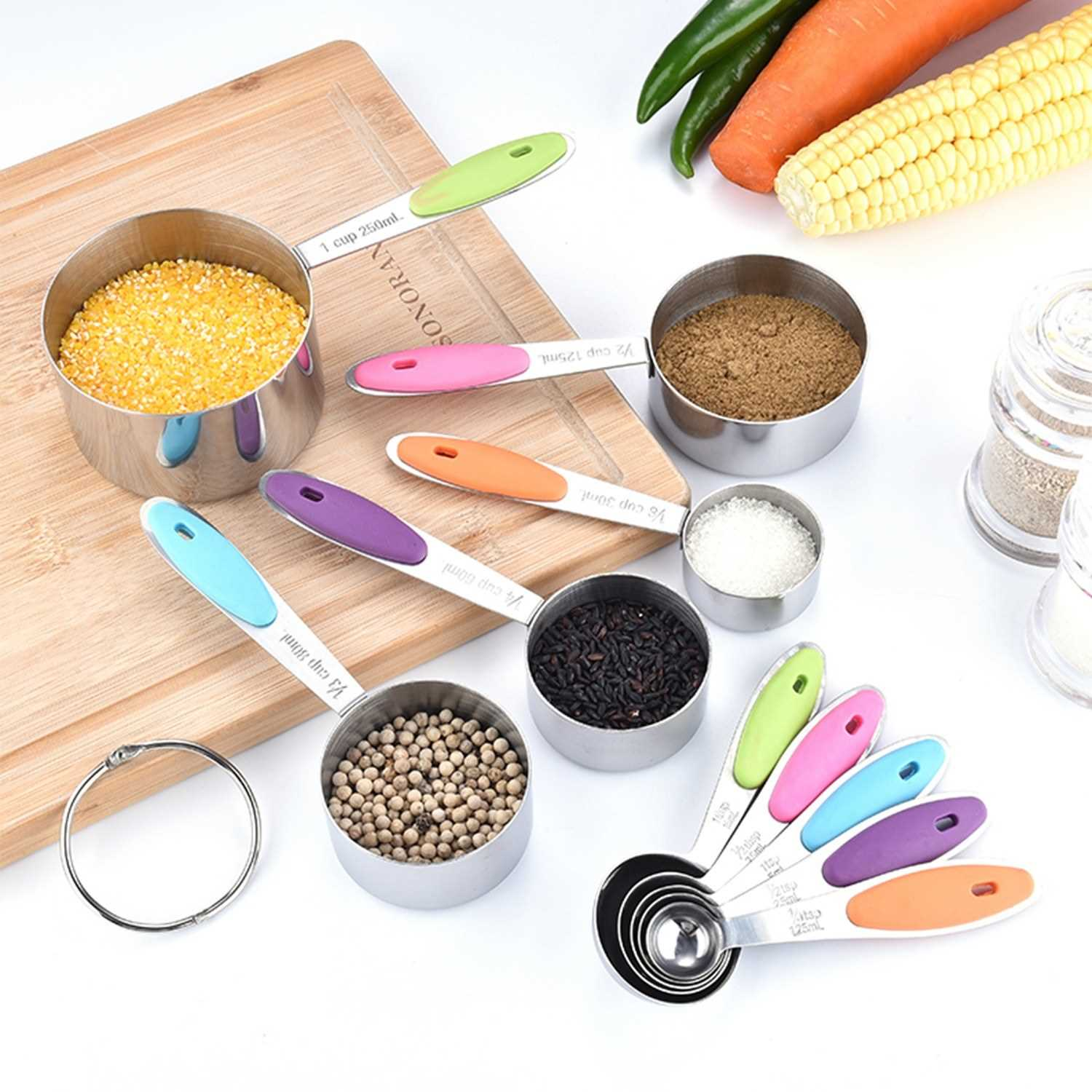 10PCS Measuring Cups and Spoons Set for Dry and Liquid Ingredients