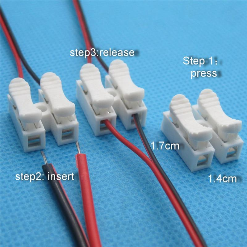 10pcs x  Electrical Cable Connector Quick Splice Lock Wire Terminals