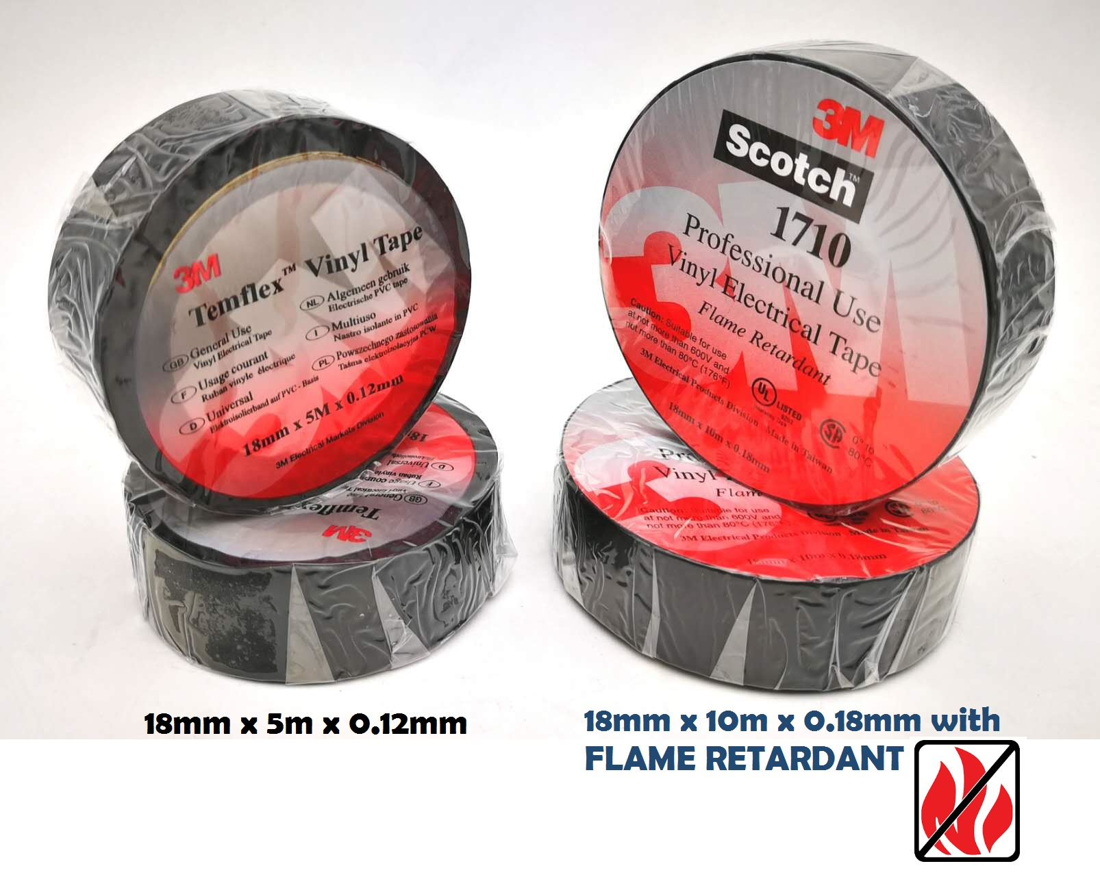 10Roll 3M Electrical Insulating Tape Black Color/ Wire Tape