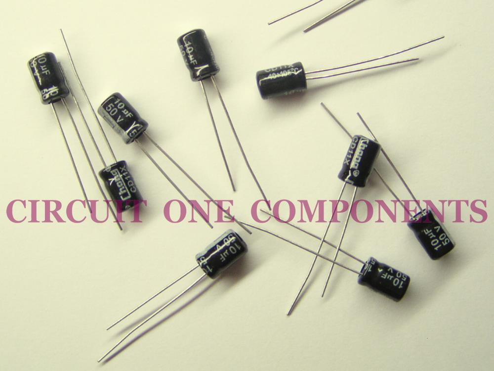 10uF 50v Electrolytic Capacitor - Each
