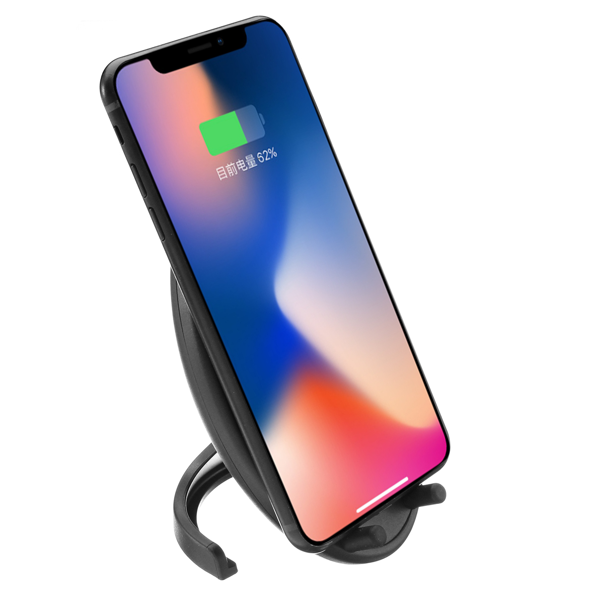 10W 2 Coils Qi Fast Wireless Charger With Cooling Fan For iPhone X 8/8..