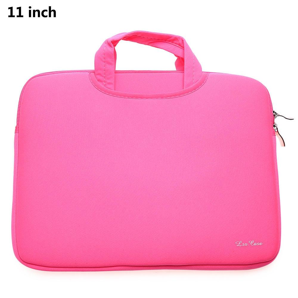 11 Inch Laptop Bag Tablet Zipper Pouch Pink