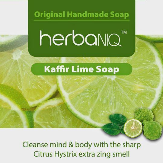 11 pcs HerbaNIQ Kaffir Lime Soap 55g