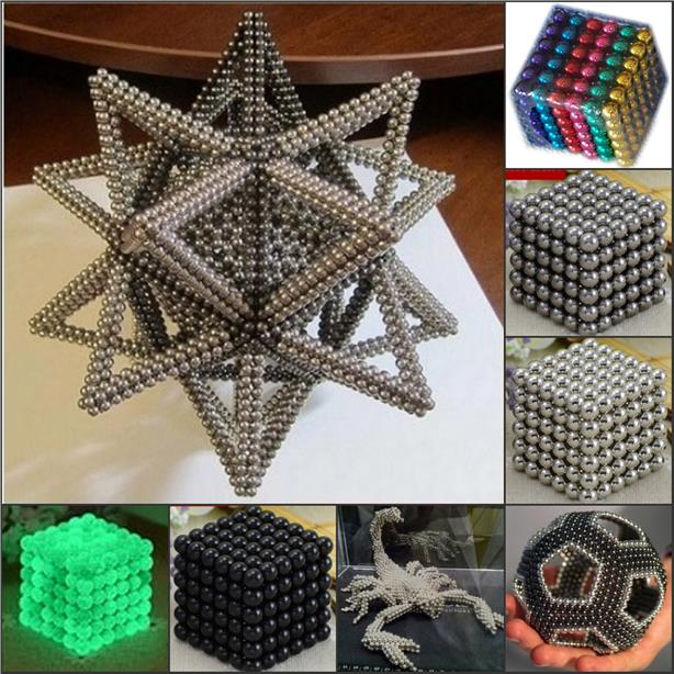 115 - MAGNET BALL Buckyballs Magnetic Puzzle Neocube 216pcs 5mm balls