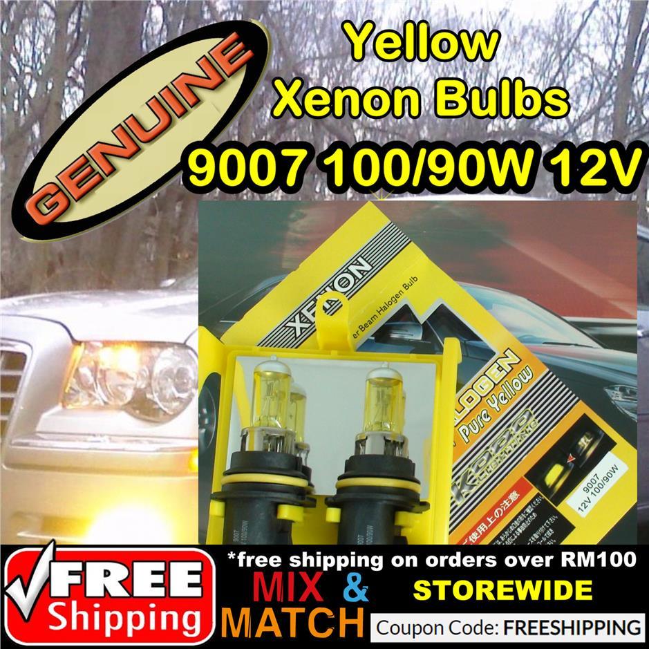 11531053 9007 100 90W 12v HID Yellow Xenon Bulb Headlight Halogen